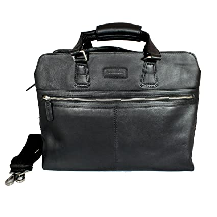 """Second May® 100% Genuine Leather 18"""" inch Laptop Messenger Bag Men s  Classic Genuine 05a22234157e1"""