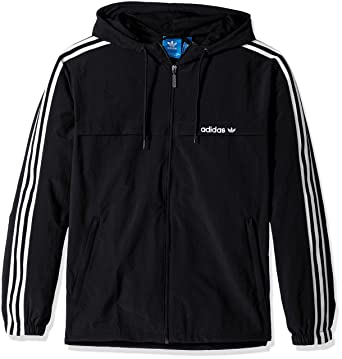 985630eda975 adidas Men s 3 Stripe Windbreaker at Amazon Men s Clothing store