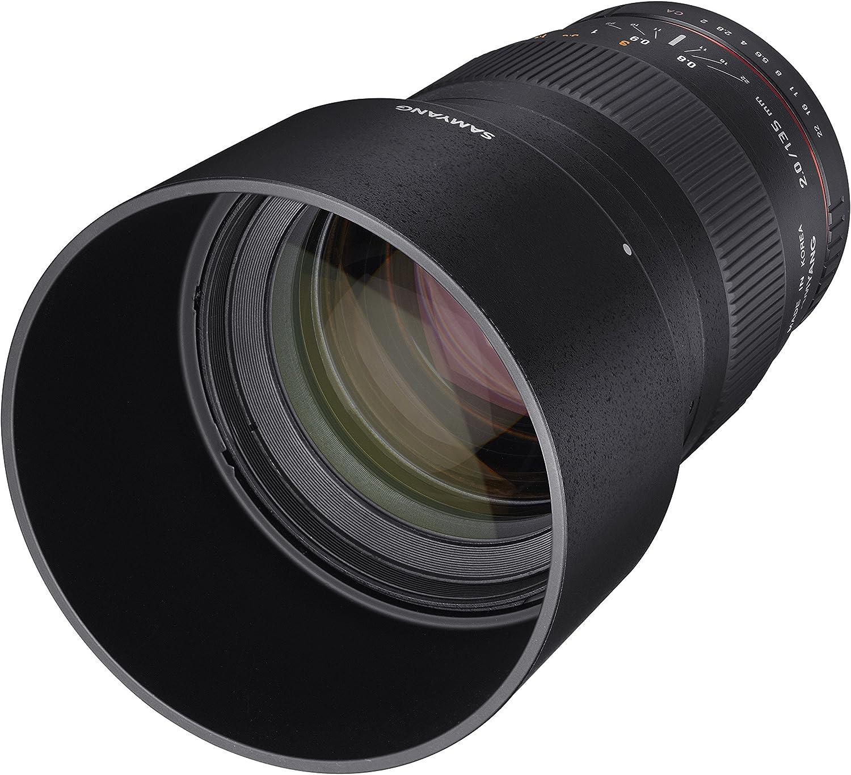 Samyang 7493 135 mm F2.0 Manual Focus Lens for Canon Black