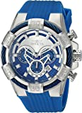 Invicta Men's 'Bolt' Quartz Stainless Steel and Silicone Casual Watch, Color:Blue (Model: 24696)