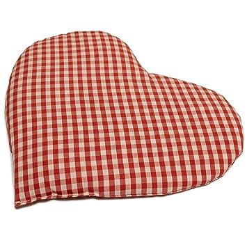Almohadilla térmica en corazón 30x25 (algodón orgánico rojo ...