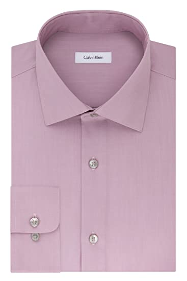 7b8e8ca5cee Calvin Klein Men s Dress Shirt Regular Fit Non Iron Herringbone at Amazon  Men s Clothing store