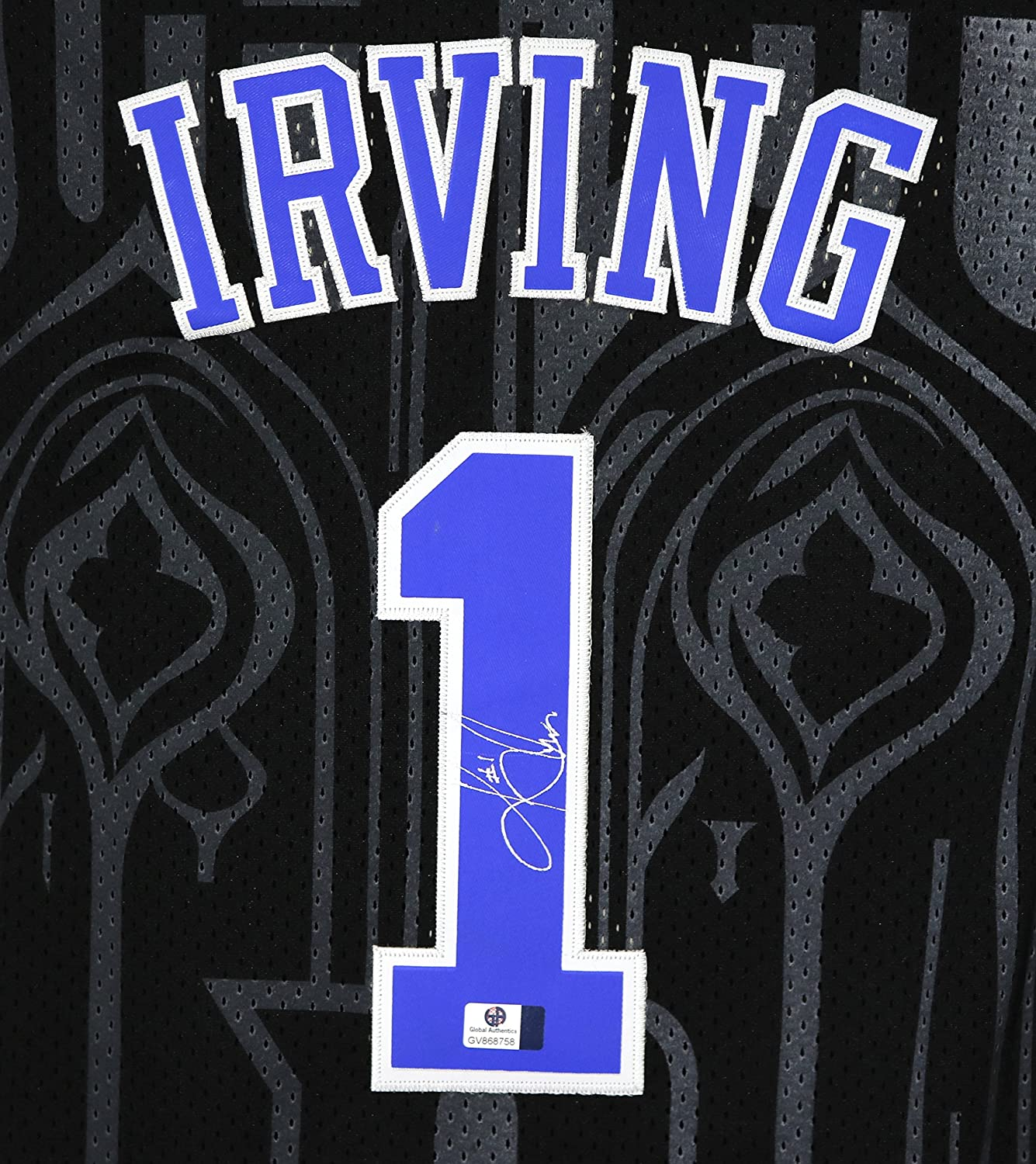 0b457017a6c9 coupon code for kyrie irving duke blue devils signed autographed black 1  jersey coa good d0b0e