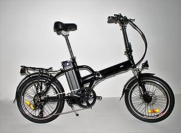 highbikes bicicleta plegable negra