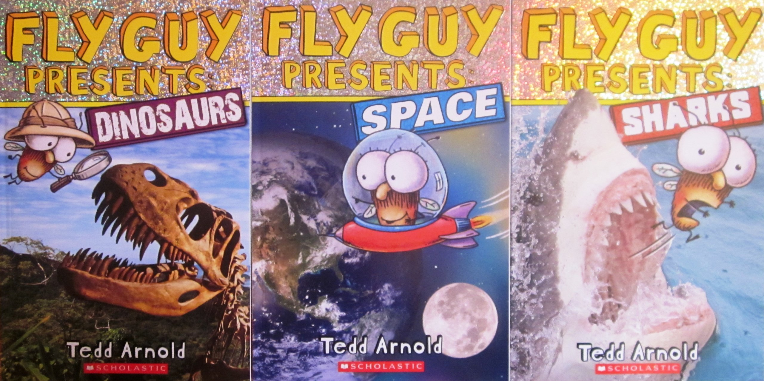 Fly Guy Pack, Fly Guy Presents: Space, Fly Guy Presents: Dinosaurs, Fly Guy Presents: Sharks: Amazon.es: Tedd Arnold: Libros