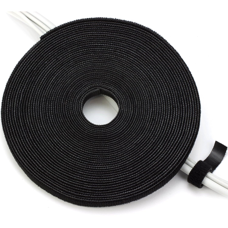 Purovi Cinta de Gancho y Bucle Sujeta Cables Recortable Organizador de Cables 5 Metros