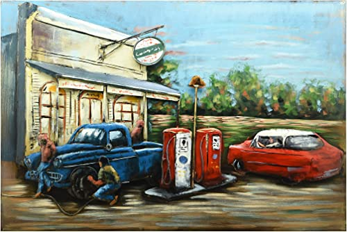 Empire Art Direct Gas Station Metal
