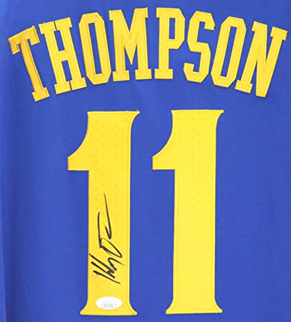 new styles c5b9e a3b55 Klay Thompson Golden State Warriors Signed Autographed 2018 ...