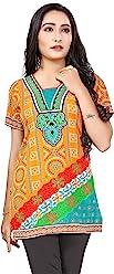 Unifiedclothes Women Fashion Casual Short Indian Kurti Tunic Kurta Top Shirt Dress 77C