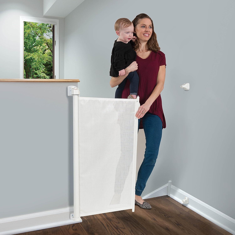 KidCo Retractable Safeway Mesh Barrier Gate G2500 - Whtie