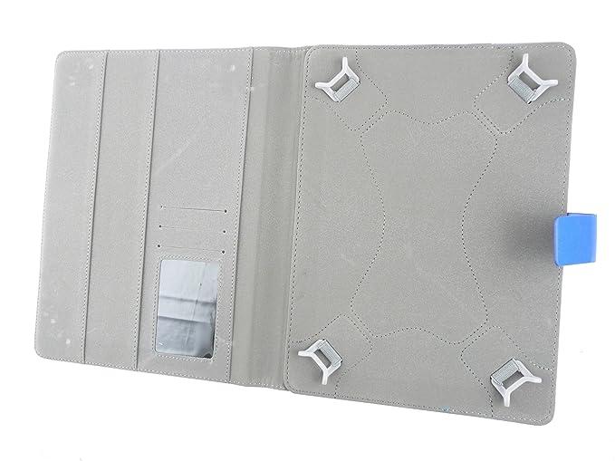 Emartbuy® bq Edison 3 10.1 Inch Tablet Universal Series Azul Ángulo Múltiples Executive Folio Funda Carcasa Wallet Case Cover Con Tarjeta Crédito ...