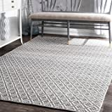 nuLOOM Cottage Collection Hand Made Area Rug, 8-Feet by 10-Feet, Grey