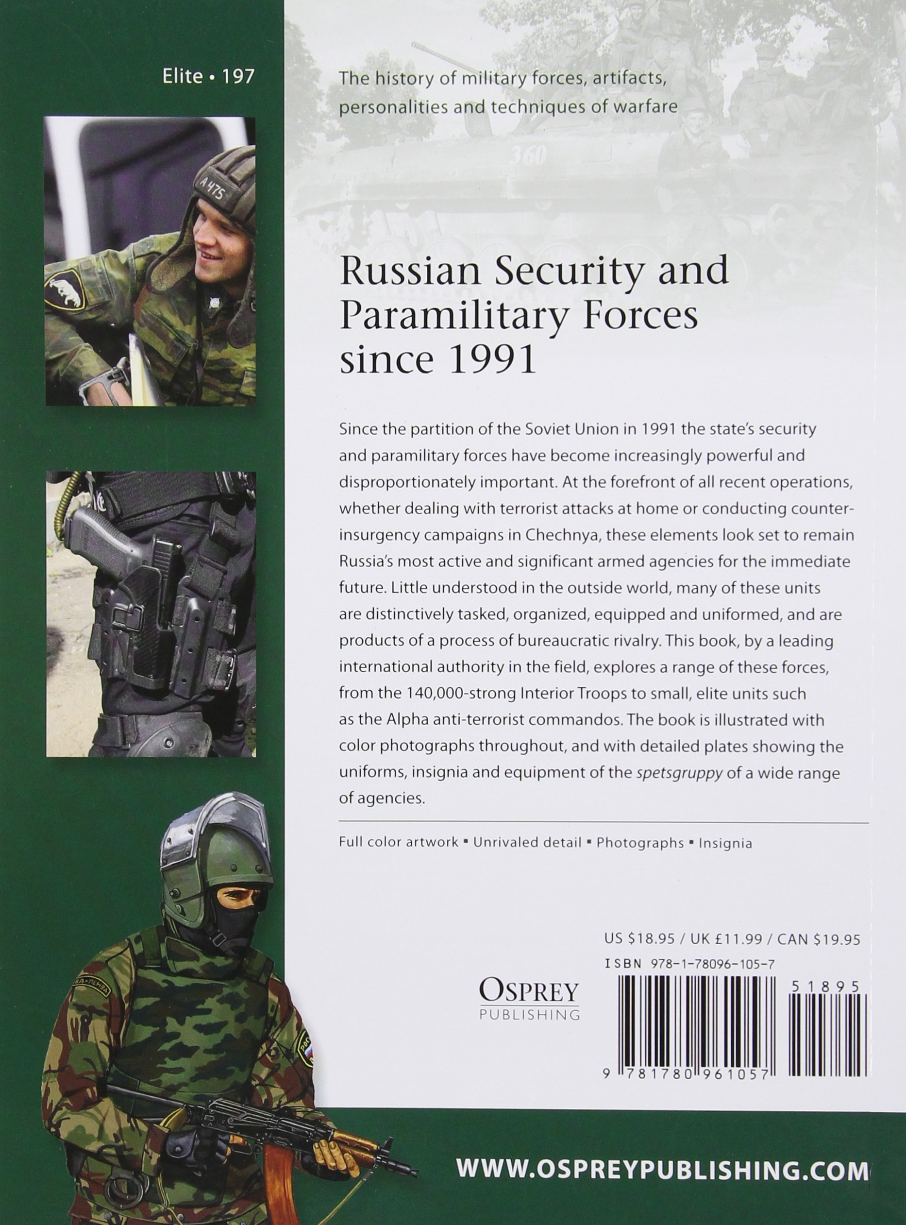 Russian Security and Paramilitary Forces since 1991 (Elite): Mark Galeotti,  Johnny Shumate: 9781780961057: Amazon.com: Books