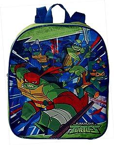 """Nickelodeon TMNT Ninja Turtles 12"""" Small School Bag Backpack"""