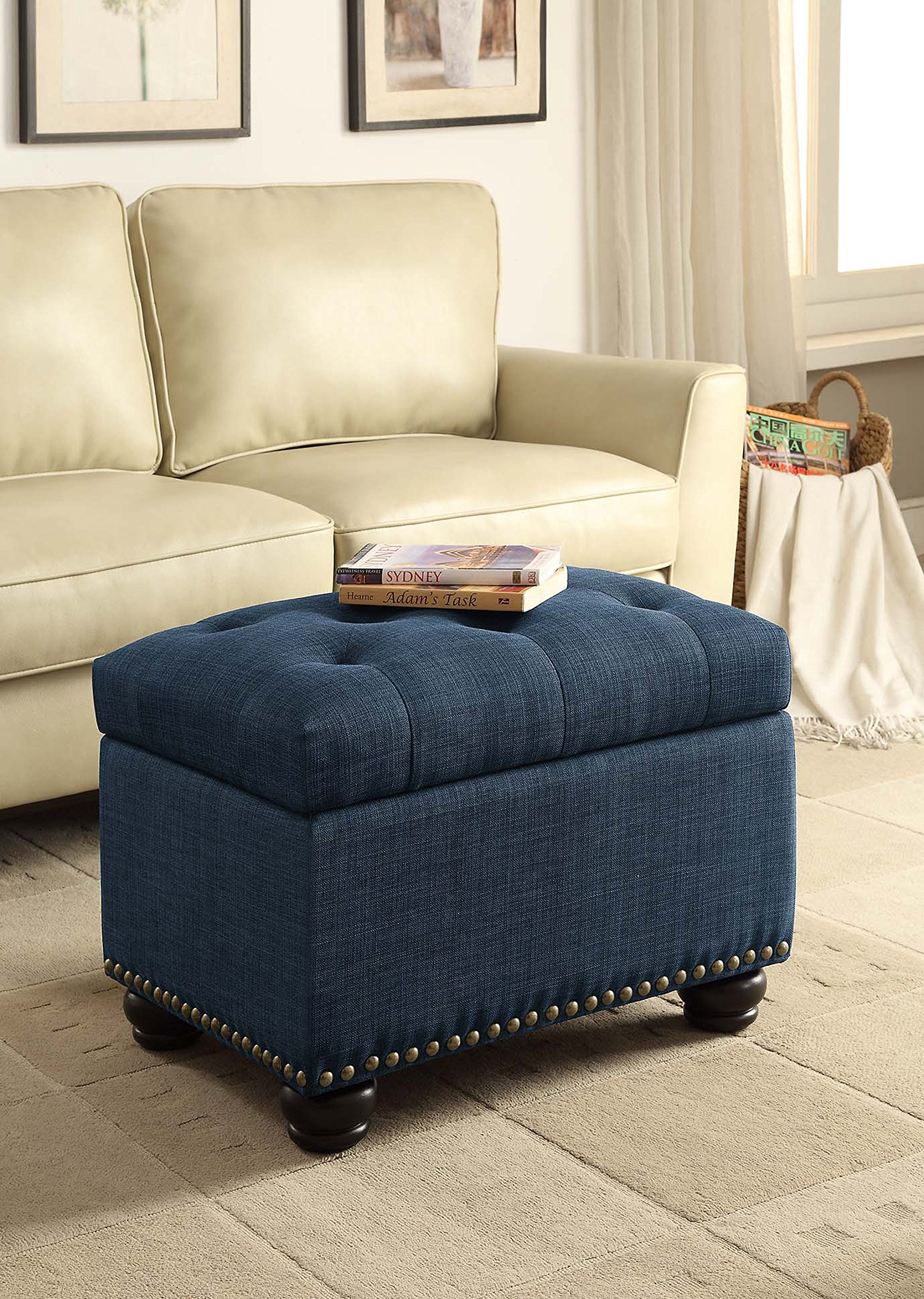 Convenience Concepts Designs4Comfort 5th Avenue Storage Ottoman, Blue by Convenience Concepts (Image #4)