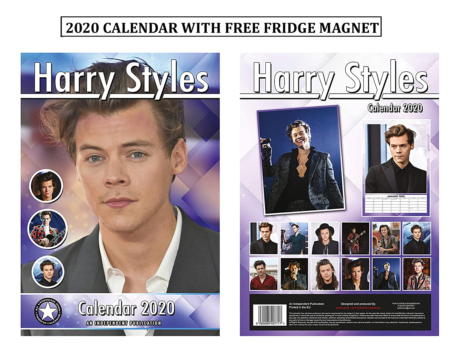 Harry Styles Calendario 2020 + Imán para nevera de Harry Styles ...