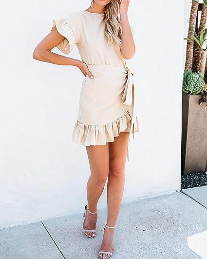 Free Amazon Promo Code 2020 for Women Short Sleeve Dress Wrap Ruffle