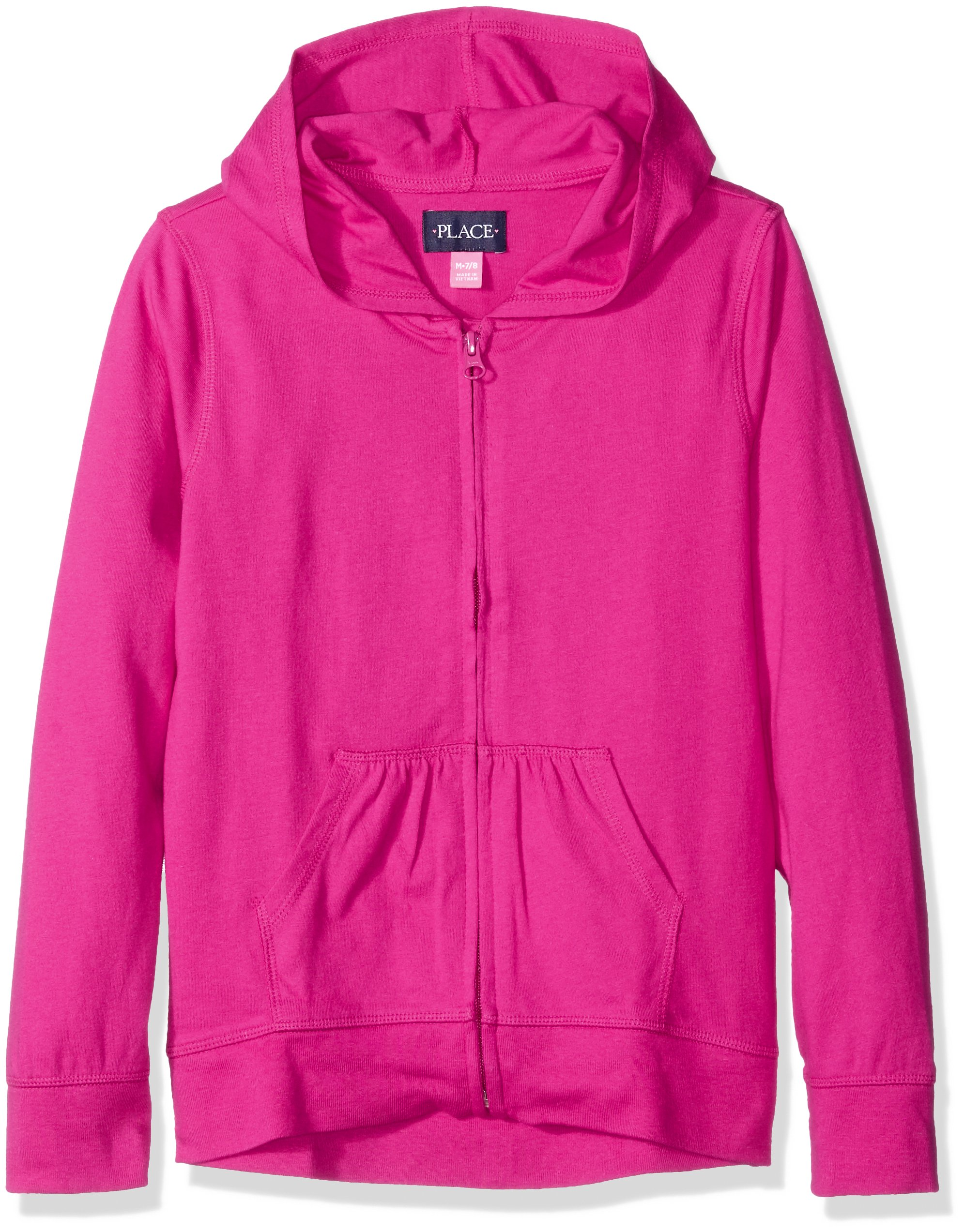 The Children's Place Girls' Little Uniform High-Low Hoodie, Aurora Pink, Small/5/6