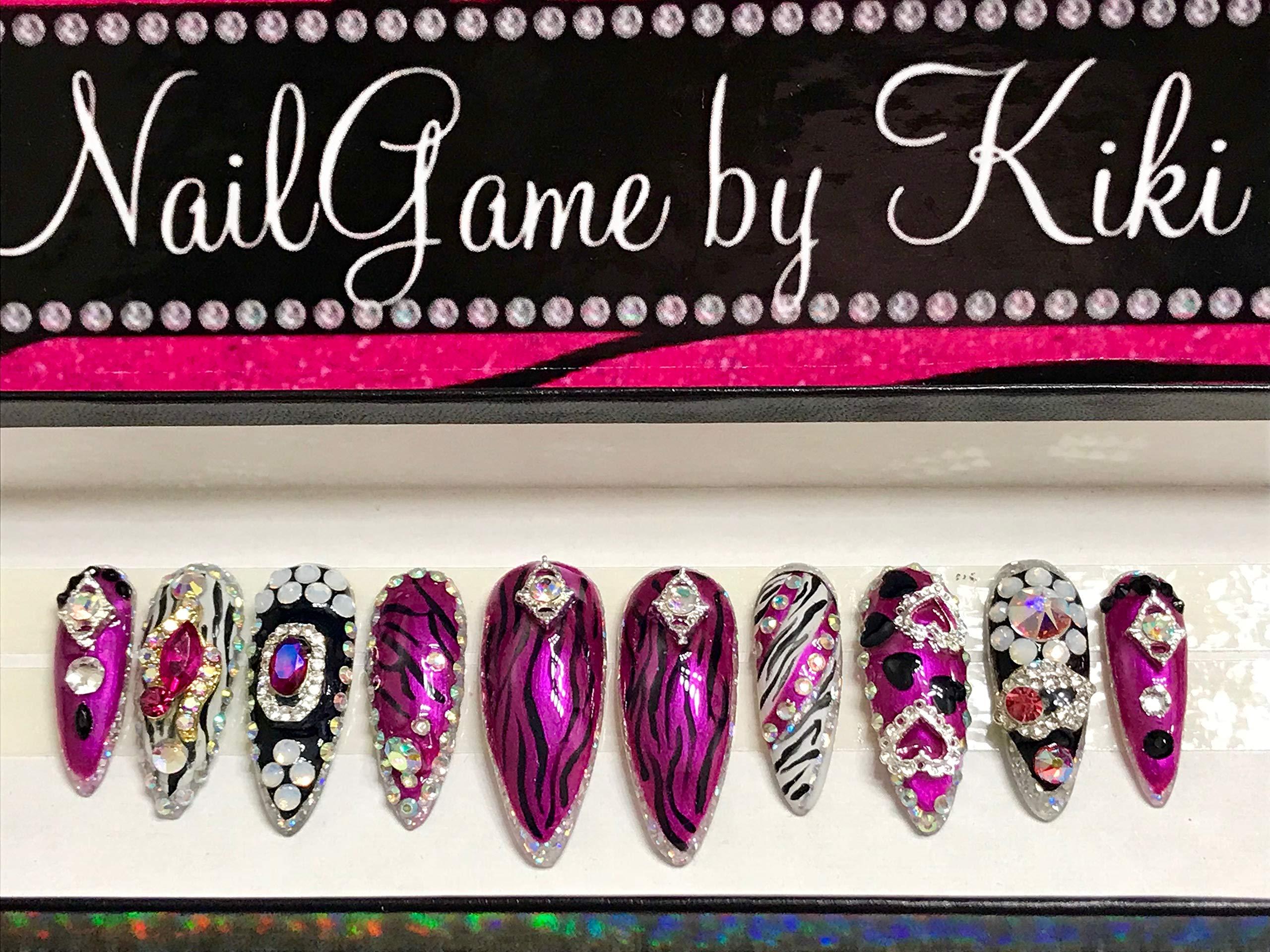 Kiki's Signature Hand Designed Nail Set Stiletto