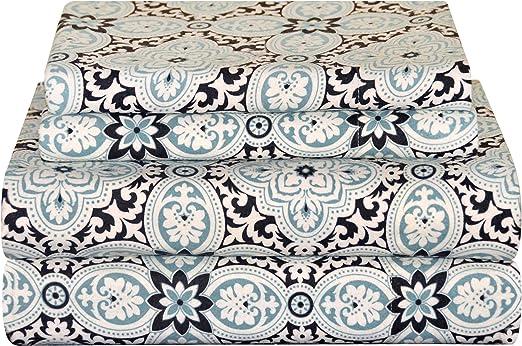 Amazon Com Pointehaven Heavy Weight Flannel Sheet Set Cal King Ankara Home Kitchen