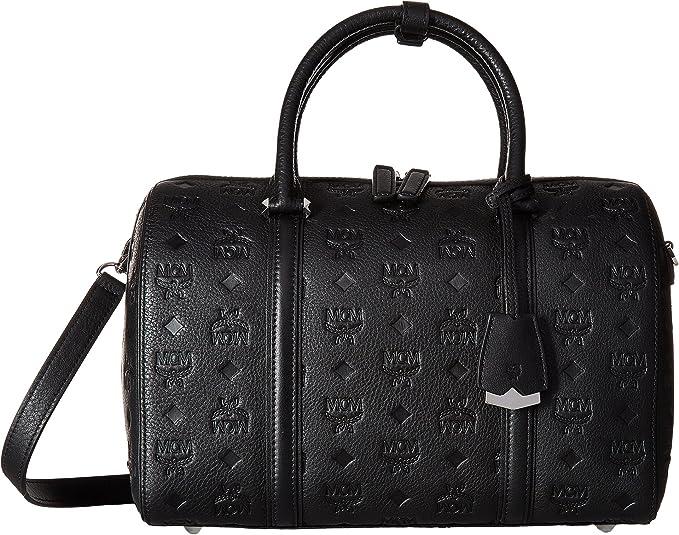 MCM Damen Handtasche Essential Boston MED Schwarz: