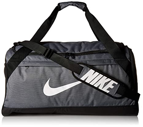 Amazon.com  NIKE Brasilia Duffel Bag, Flint Grey Black White, Medium ... df61ced791