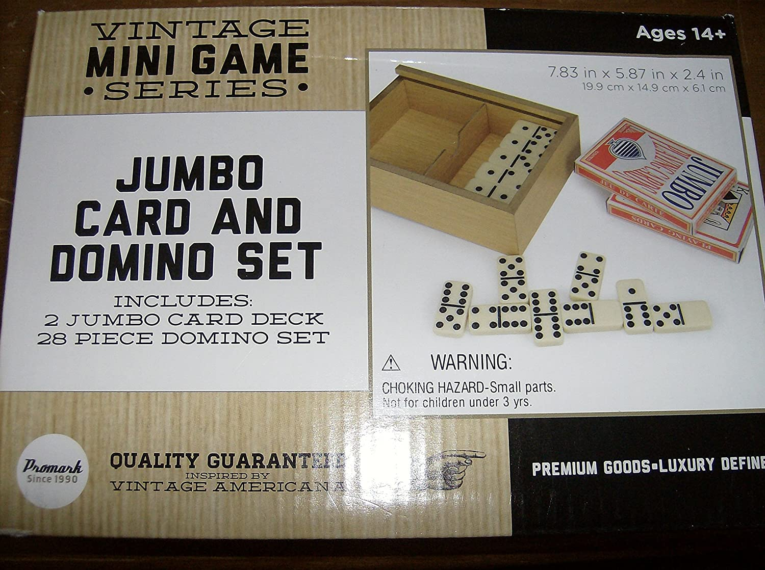 Vintage Mini Game Series Jumbo Card and Domino Set by Vintage