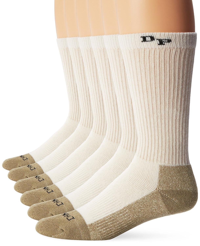 Buy Dan Post Dan Post Work & Outdoor Socks Mid Calf Mediumweight Steel Toe 6 pack Natural LG (Men's Shoe 10 1/2-13) at Amazon.in
