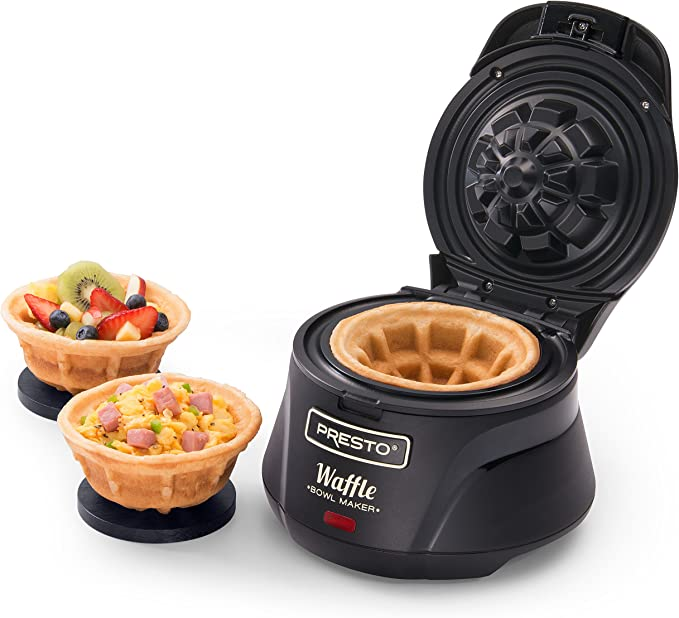 FLUFFY AND DELICIOUS BELGIAN WAFFLE BOWL MAKER! PERFECT WITH FRUITS OR ICE CREAM!