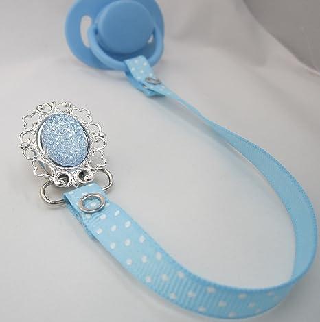 Cristal sueño brillante elegante luz azul cinta chupete ...