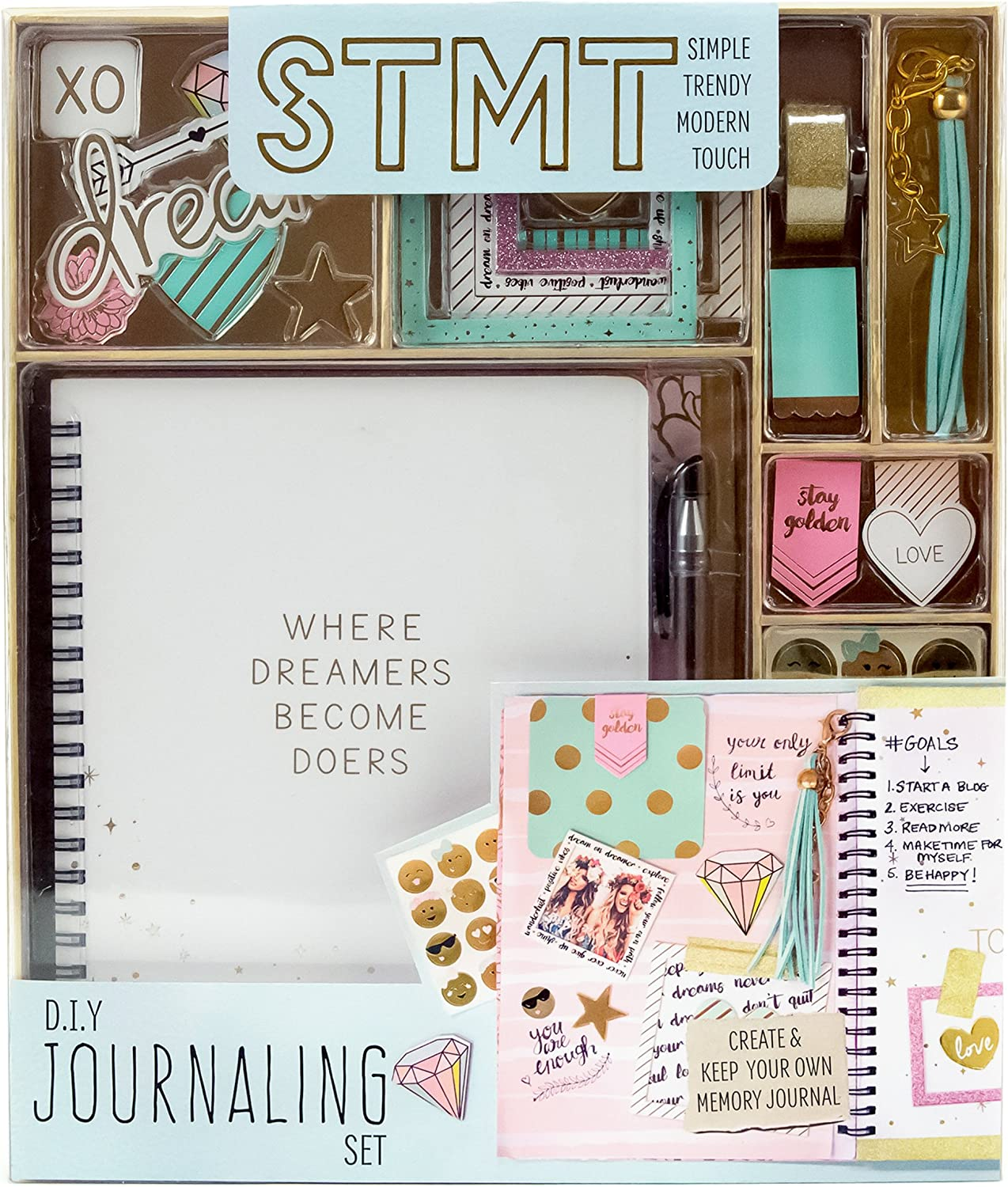 DIY Journaling Set by Horizon Group USA, Personalize & Decorate Yourplanner/Organizer/Diary