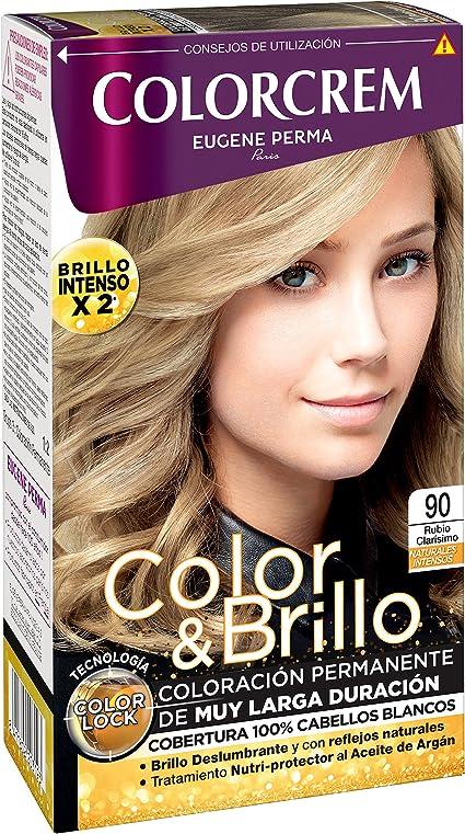 COLORCREM tinte Rubio Clarisimo Nº 90 caja 1 ud: Amazon.es ...