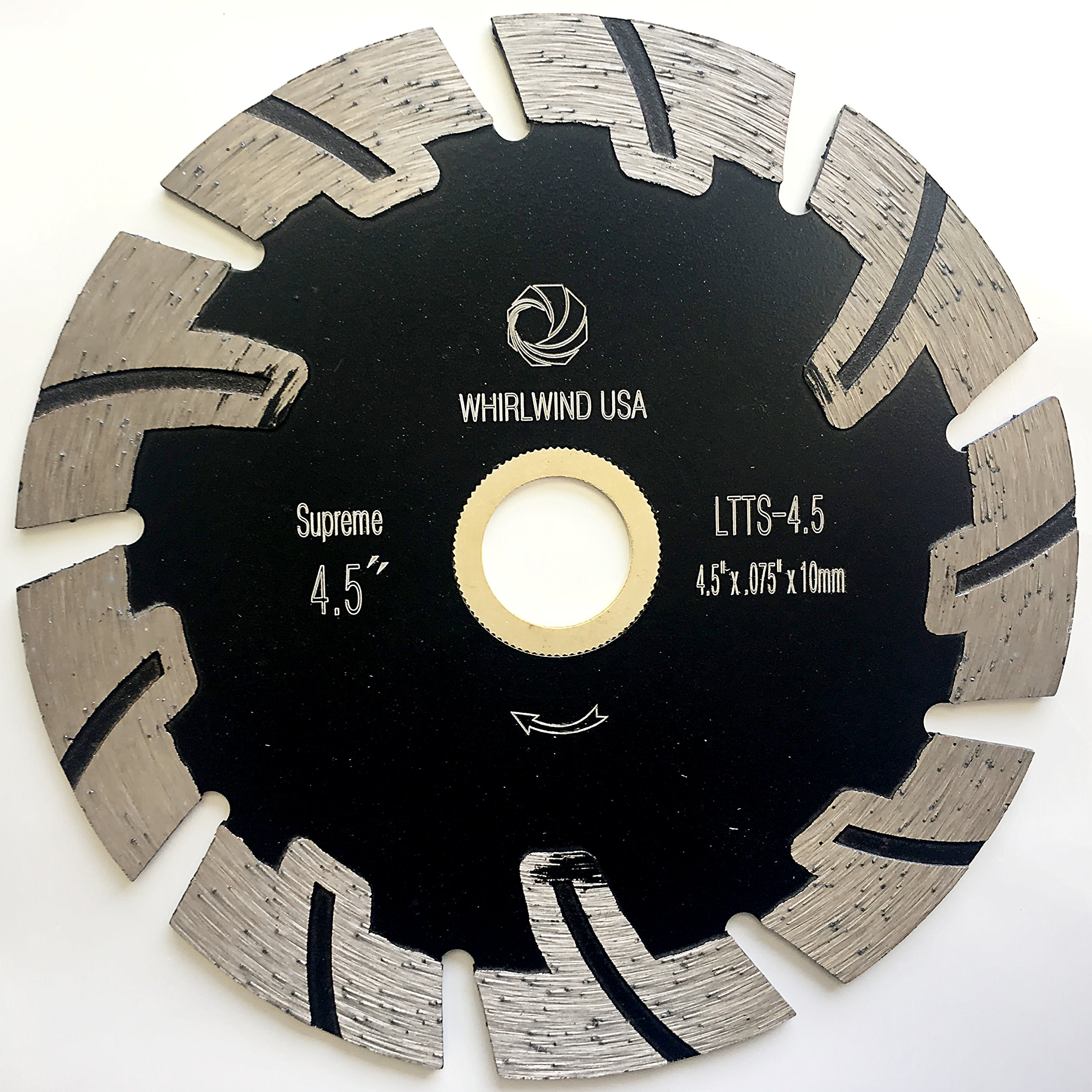 Whirlwind USA LTTS 4.5-Inch Supreme Quality Dry or Wet Cutting General Purpose Power Saw T Segmented Diamond Blades for Granite Stone Concrete (Factory Direct Sale) (4.5'')