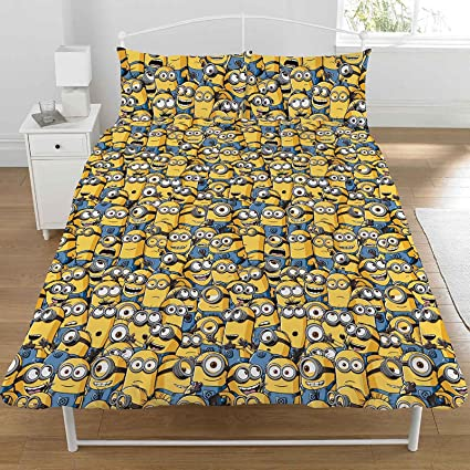 e3d8a46d03 Despicable Me Double duvet cover with 2 Dreamtex pillowcases with Minions  design from the animated film Despicable Me: Amazon.co.uk: Kitchen & Home