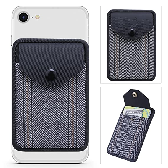 card holder for back of phone ultra slim self adhesive credit card wallet for - Cell Phone Business Card Holder
