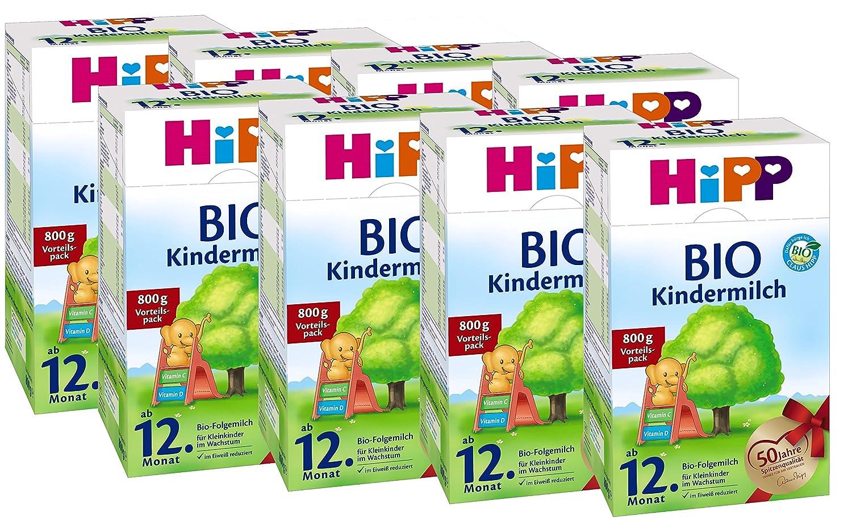 Hipp Bio Kindermilch - ab dem 12. Monat, 8er Pack (8 x 800g) Hipp GmbH & Co. Vertrieb KG
