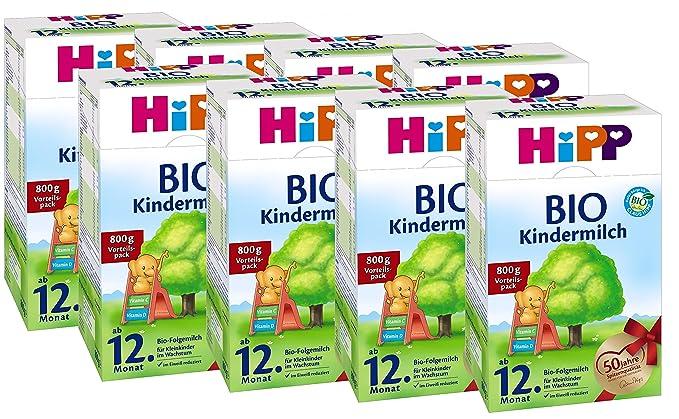 Hipp orgánico del bebé la leche - a partir del mes 12, 8 Paquete (