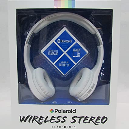 26c71146e89 Amazon.com: Polaroid Bluetooth Wireless Headphones White: Home Audio &  Theater