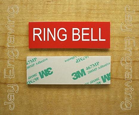 Amazon.com: Placa autoadhesiva de timbre con grabado de ...