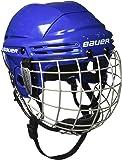 Bauer 2100 - Casco de hockey con rejilla de protección facial para niño