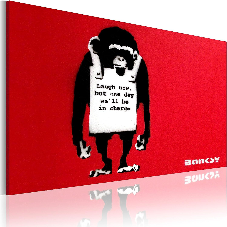 murando Cuadro en Lienzo 90x60 1 Parte Impresión en Material Tejido no Tejido Impresión Artística Imagen Gráfica Decoracion de Pared Banksy 020115-56