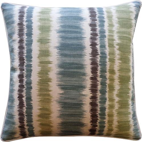 Jiti Carlos Cotton Square Throw Pillow, 20-Inch, Blue