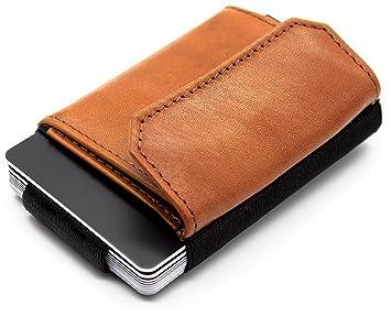JAIMIE JACOBS Cartera Hombre Nano Boy Pocket Cartera Minimalista Slim Wallet Cartera Clip Cartera Pequeña Tarjetera Fina Pinza para Billetes Billetero para ...