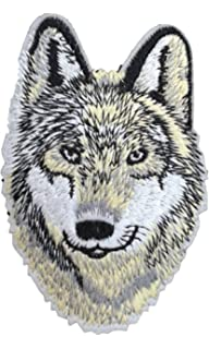 wolf iron on patch applique wildlife animal husky dog motif fabric decal 36 x 24 inches