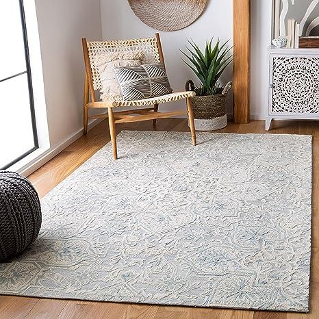 Amazon Com Safavieh Abstract Collection Abt958f Handmade Premium Wool Area Rug 4 X 6 Grey Beige Furniture Decor