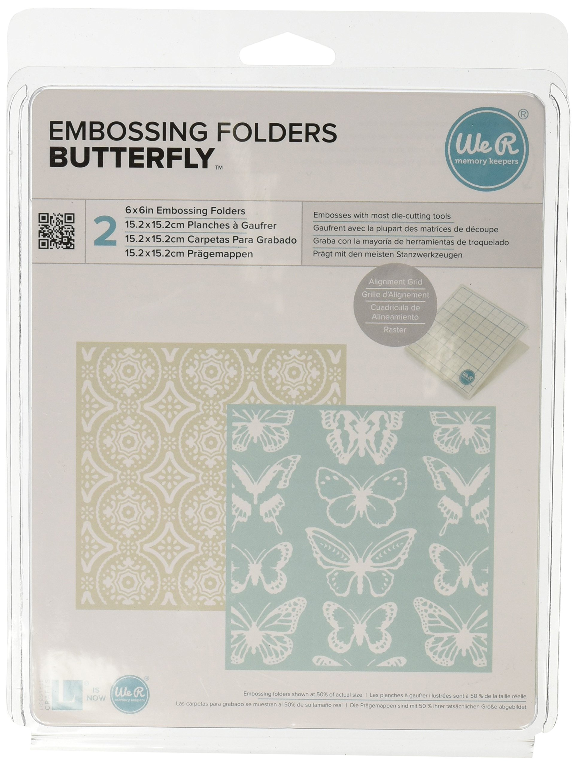 We R Memory Keepers Butterfly Goosebumpz Embossing Folder, 2 Per Package