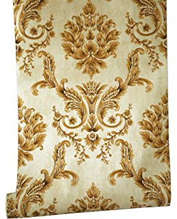 Blooming Wall PeelStick Textured Elegant Damasks Prepasted Wallpaper Mural 208 In1968