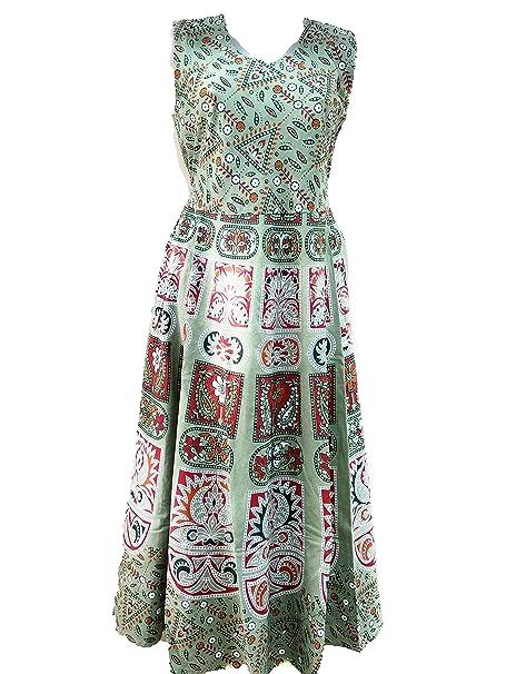 69f667b26 G for Girl Women s Cotton Jaipuri Rajasthani Printed Frock (20319 ...
