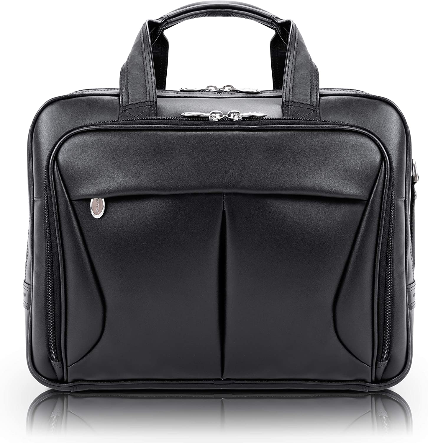 McKlein USA Pearson Leather Expandable 15.4 Inch Laptop Briefcase
