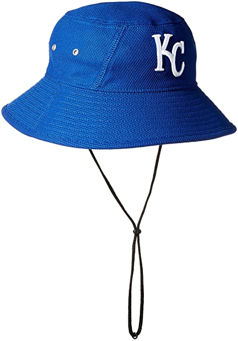 bd11fa2b New Era MLB Kansas City Royals 2016 Clubhouse Bucket Stretch Fit Cap, One  Size,